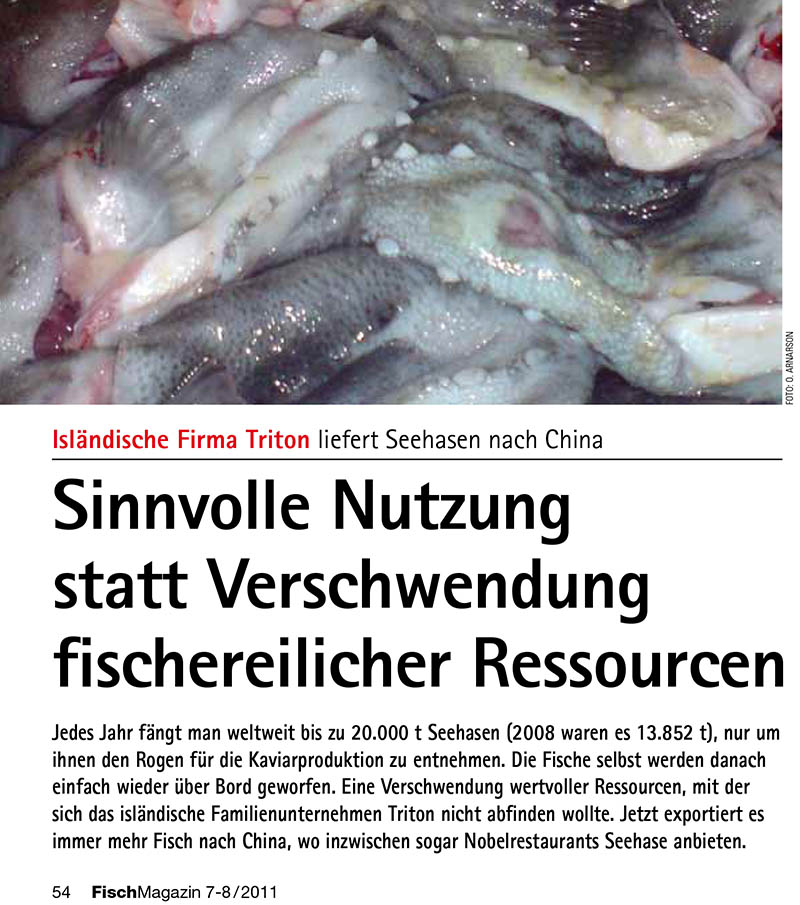 Export of Lumpfish to China